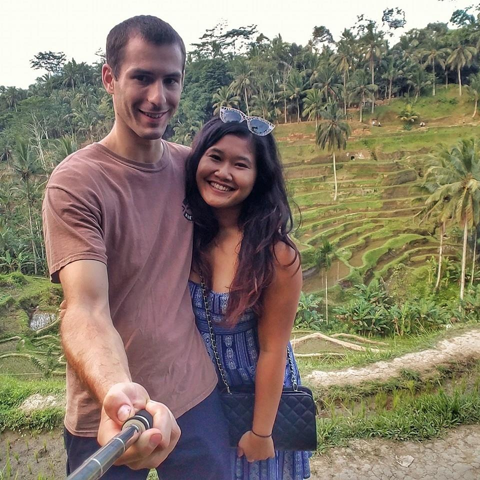 Touring with our host in Ubud